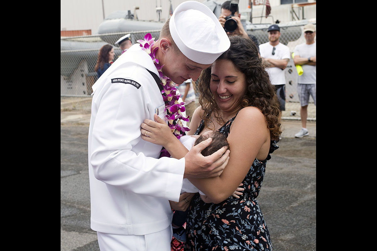 Sailor Meets Son for First Time