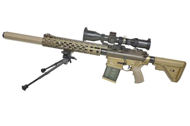 The Army will be getting updated version of the G28 featuring a redesigned handguard that replaces the Keymod attachment system with an MLOK system. (Courtesy Heckler & Koch)