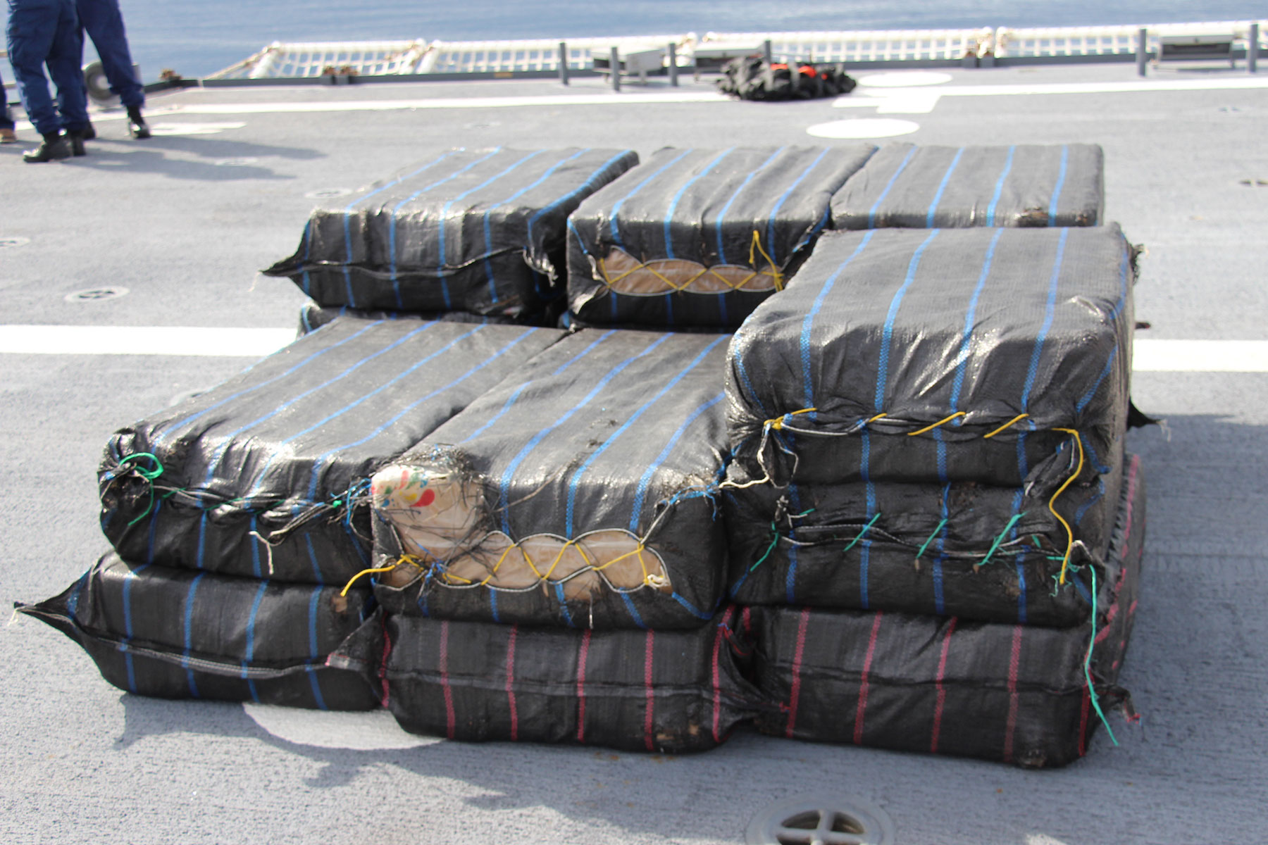 Coast Guard Offloading 6 Tons of Cocaine at Port Everglades