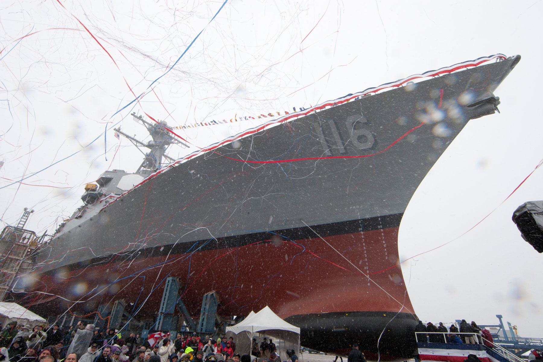 Navy Takes Delivery of Future USS Hudner