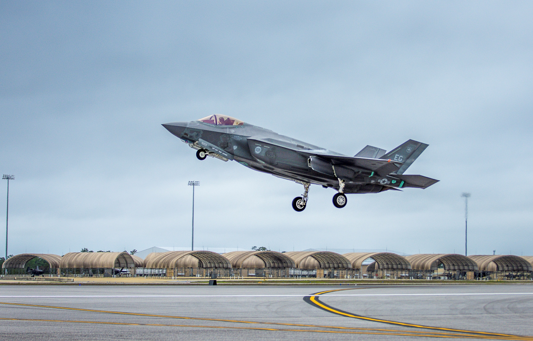 Another F 35 Incident At Eglin Bird Strike Follows Nose
