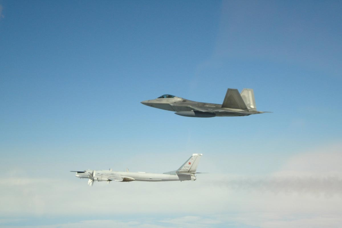 F22s Intercept Russian Bombers