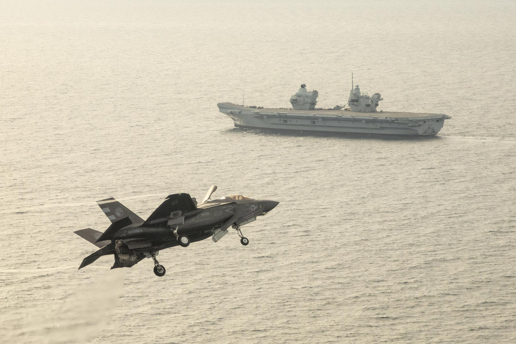 A US Marine F-35 Squadron Will Deploy on a British Aircraft Carrier