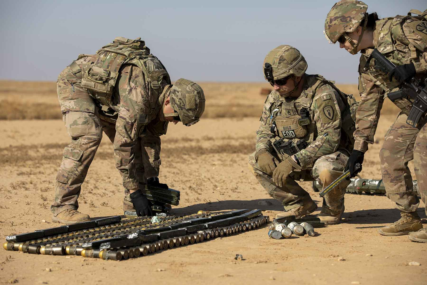 U.S. Soldiers • 745th EOD Disposes of Outdated Ordnance • 22 Sep 2020