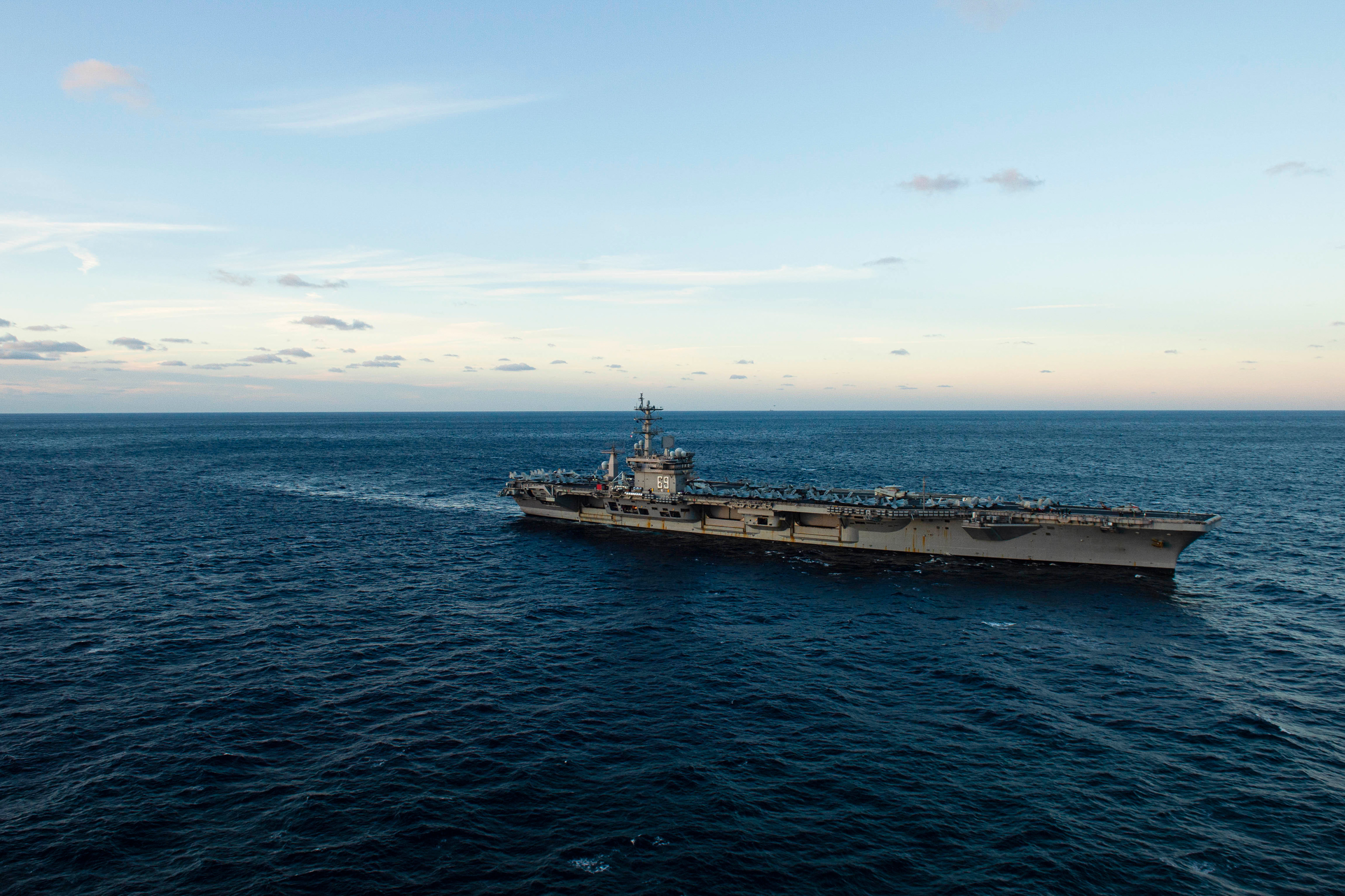 Eisenhower Carrier Strike Group Deploys Without Stopping at Home First