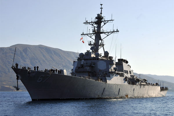 Uss Cole Patrols Off Yemen After Iran Backed Rebels Attack
