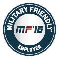 Military Friendly Employer 2016 badge