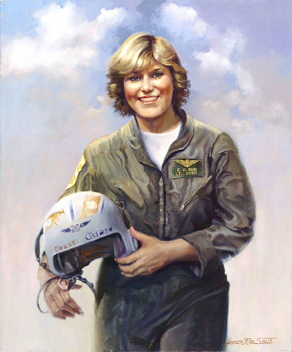 A portrait of Lt. Colleen Cain. (Portrait by Leonora Rae Smith.)