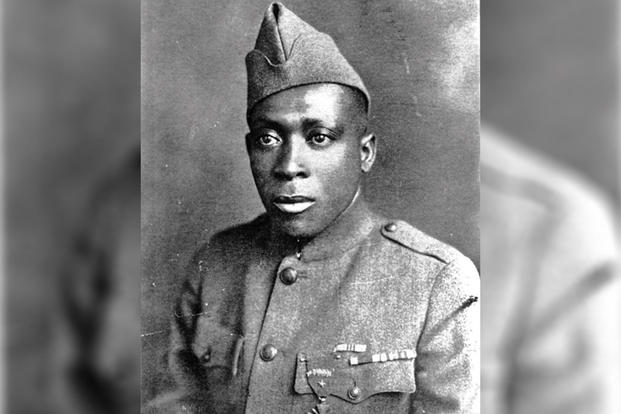 Henry Lincoln Johnson in uniform, circa 1917 (U.S. Army)