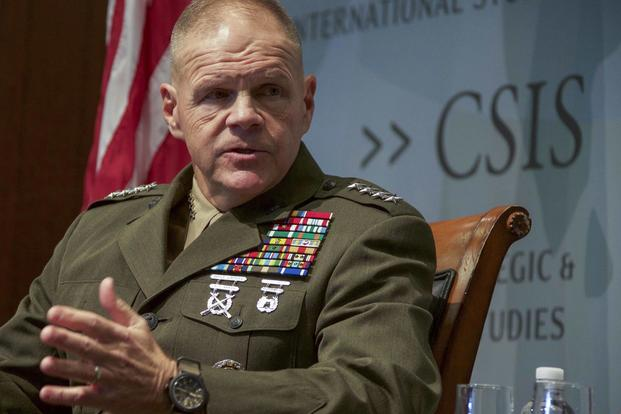 Commandant of the Marine Corps Gen. Robert B. Neller speaks to guests at the Center for Strategic International Studies, Washington, D.C., Jan. 25, 2018. (U.S. Marine Corps/Sgt. Olivia G. Ortiz)