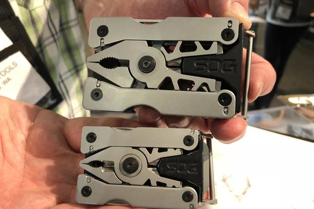 Both the Sync 1 and the Sync 2 from SOG come with 11 tools, ranging from pliers to screwdrivers and scissors. (Hope Hodge Seck/Military.com)