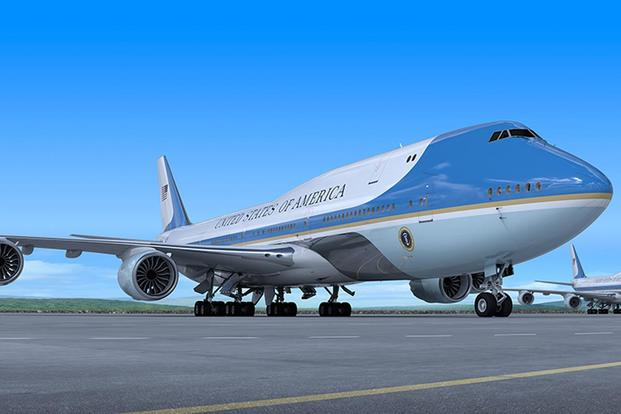 An artist's rendering of the future Air Force One. Courtesy of Boeing