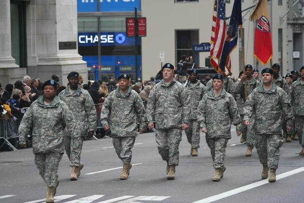 369th Sustainment Brigade parade in New York City Veterans Day