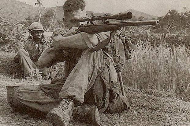 Carlos Hathcock, one of the most well-known snipers in U.S. military history