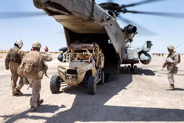 Marine infantry units deploying Polaris MRZR all-terrain vehicles that support uses ranging from rapid personnel deployment, to command and control, casualty evacuation and supply transport missions. (Image: Polaris)