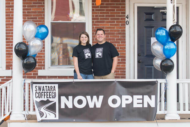 John and Jo Noll opened Swatara Coffee in Jonestown, Penn. after John left the Navy. (Courtesy of John and Jo Noll)