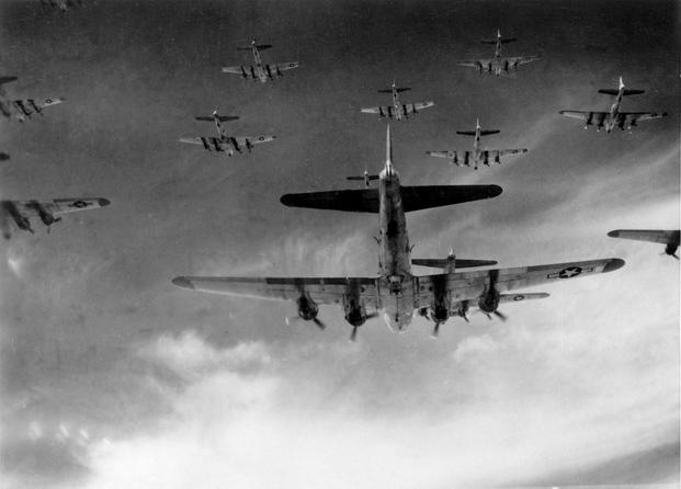 B-17 bombers flying in formation (U.S. Air Force photo)
