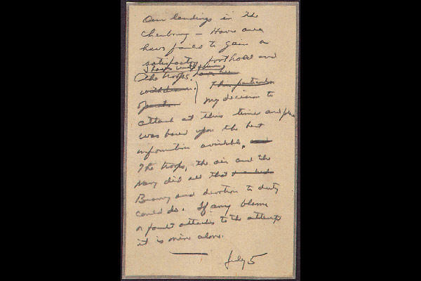 Eisenhower D-day retreat message (National Archives)