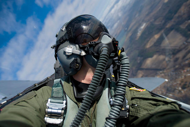 Cobham, whose breathing sensor system, VigilOX, has been helping monitor U.S. Navy pilots while in flight for months, has a contract to develop a new system to predict and respond to pilots' oxygen needs. (Cobham photo)