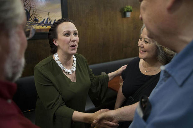 MJ Hegar is running against Republican incumbent John Carter in Texas' 31st Congressional District. After winning her primary in May, Hegar will face off against Carter in the November general election. Courtesy MJ Hegar's campaign