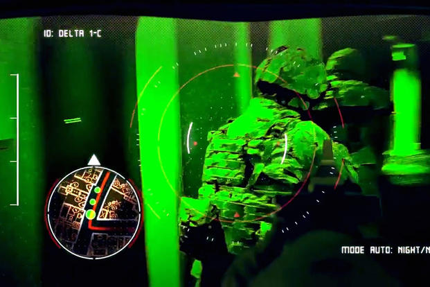 The Defense Department's Close Combat Lethality Task Force is supporting innovative technology with DoD dollars, such as the Army's program to  equip its infantry units with a heads-up display designed to provide soldiers with a digital weapon-sight reticle, as well as tactical data about the immediate battlefield environment. (US Army photo)
