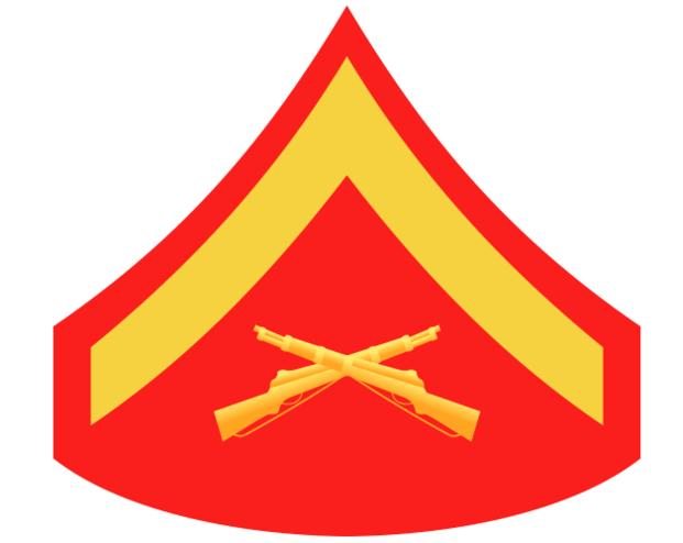 Marine Corps Lance Corporal (LCpl) insignia