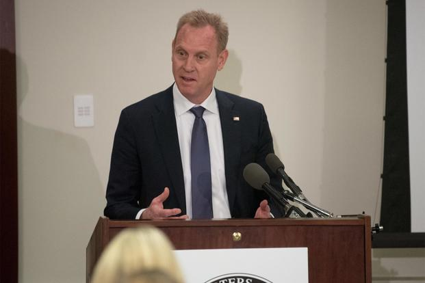 U.S. Deputy Secretary of Defense Patrick M. Shanahan speaks to members of the Military Reporters and Editors Association during their annual convention at the Navy League Building in Arlington, Va., Oct. 26, 2018. (DoD/U.S. Army Sgt. Amber I. Smith)