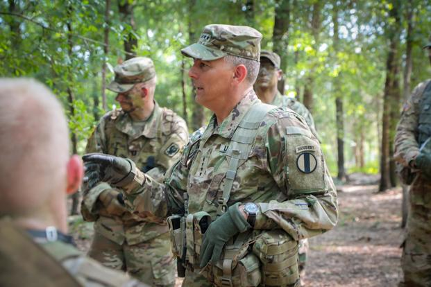 Gen. Stephen J. Townsend, commanding general of U.S. Army Training and Doctrine Command, toured the Maneuver Center of Excellence and Fort Benning, Georgia, Aug. 15, 2018 (U.S. Army/Markeith Horace)
