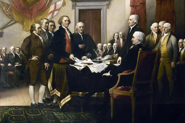 "Fourth of July ""The Declaration of Independence"" by John Trumbull"