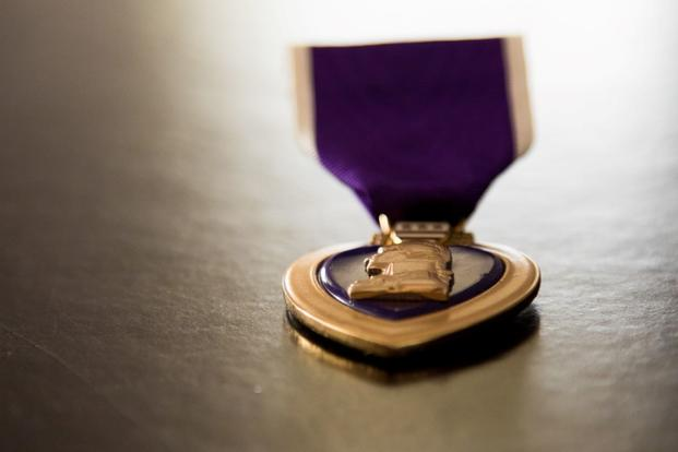 The Purple Heart medal (Photo by Army Sgt. William Frye)