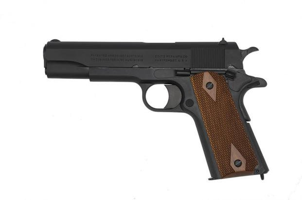 "Colt's 1911 ""Black Army"" pistol. (Photo via Colt.)"