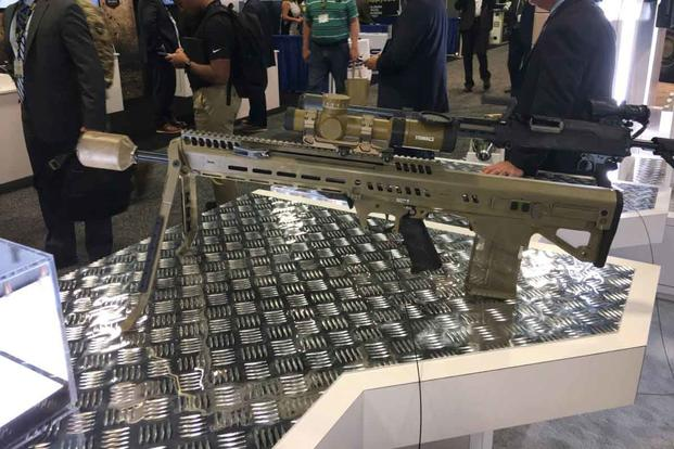 General Dynamics Next Generation Squad Weapon automatic rifle variant. (Matthew Cox/Military.com)