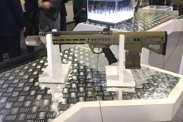 General Dynamics Next Generation Squad Weapon rifle variant. (Matthew Cox/Military.com)