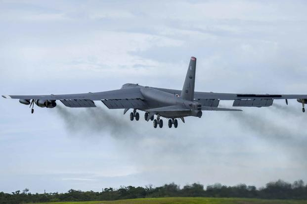 A B-52 Stratofortress in Guam.