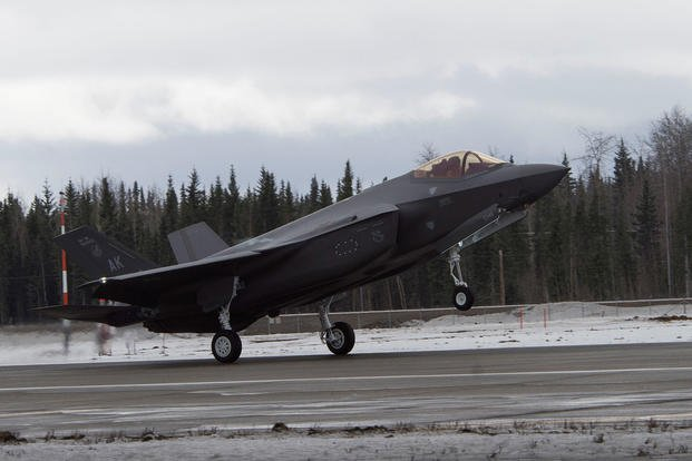 first F-35A Lightning II fighter aircraft at Eielson Air Force Base
