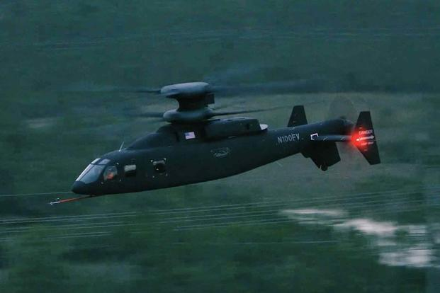 Sikorsky-Boeing SB-1 Defiant prototype helicopter during a recent test flight that achieved 205 knots.