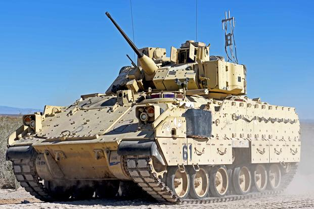 The Bradley Fighting Vehicle is a tracked armored weapons system named for Gen. Omar Bradley