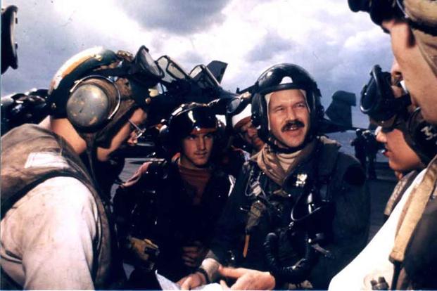 Mark Fox with his squadron maintenance team.
