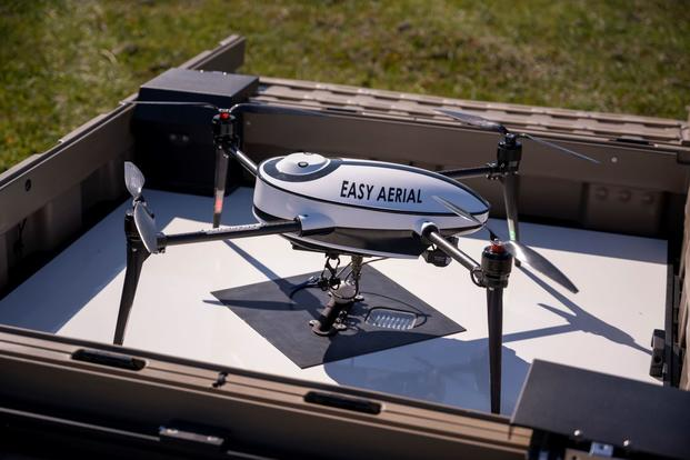 A new patrolling drone at Travis Air Force Base, California