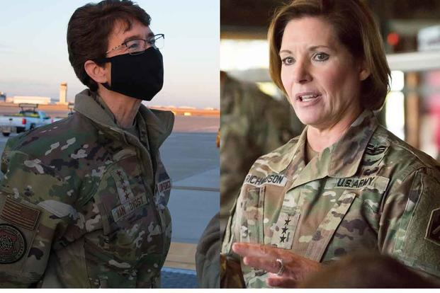 Gen. Jacqueline Van Ovost (and Lt. Gen. Laura J. Richardson.