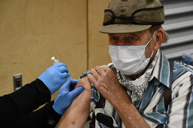 Montana veteran gets his first dose of the Moderna vaccine