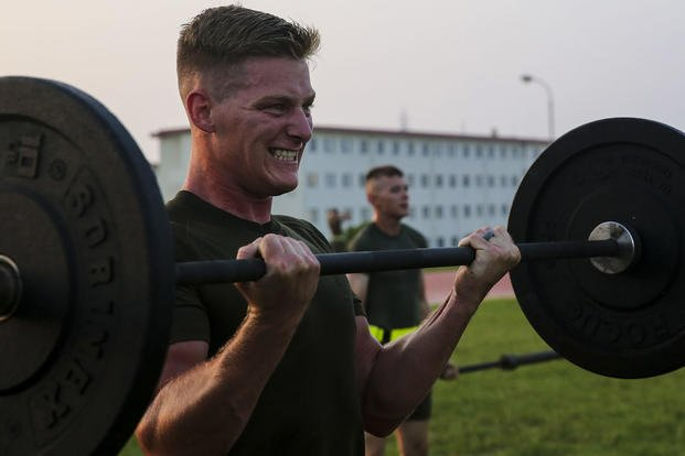 Marine takes part in Force Fitness Instructor course