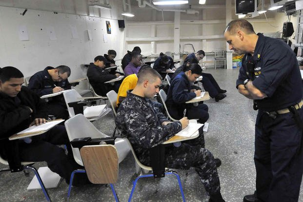 Navy sailors ASVAB test