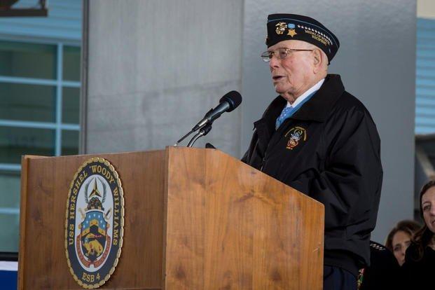 "Retired U.S. Marine Corps Chief Warrant Officer 4 Hershel ""Woody"" Williams"