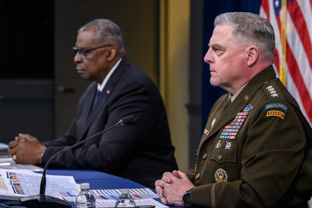 Secretary of Defense Lloyd J. Austin III and Chairman of the Joint Chiefs of Staff Army Gen. Mark A. Milley testify.