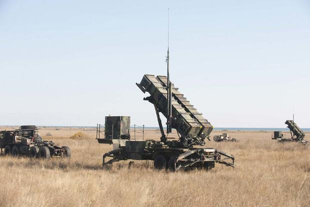 Patriot air defense missile systems during Exercise Patriot Shock in Capu Midia, Romania on November 4, 2016. The weeklong exercise was designed to test the deployment readiness and joint interoperability. Image: DoD/Tech. Sgt. Brian Kimball