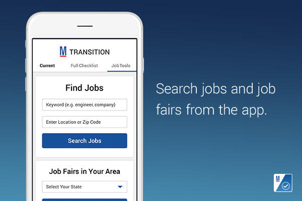 Search jobs and job fairs from the app