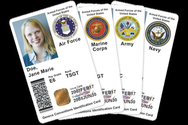 Cards com Id Dependent You - And Retiree Military Should Know What