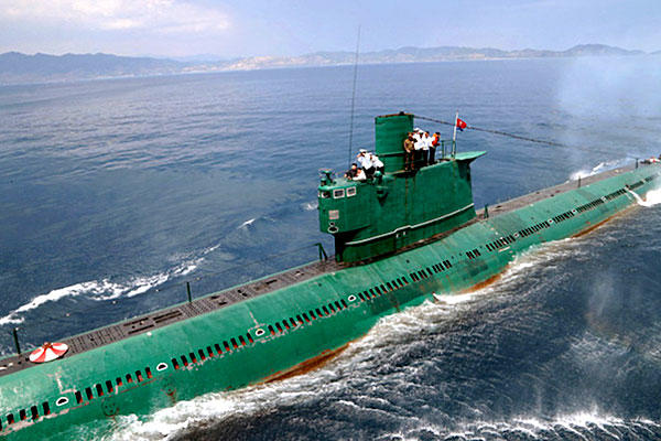 A North Korean submarine, KPN Unit 167, is seen in this June 2014 photo. One of the country's midget subs has gone missing. (US Govt photo)
