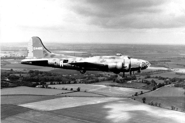 B-17 Flying Fortress bombers flew daylight bombing raids against Germany from August 1942 to the war's end; their 8th Air Force crews paid a heavy price. (DoD photo)